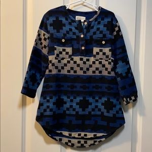 VGUC size 4 Boy + Girl Aztec Flannel Dress!
